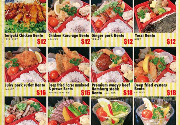 take-outs bento menu
