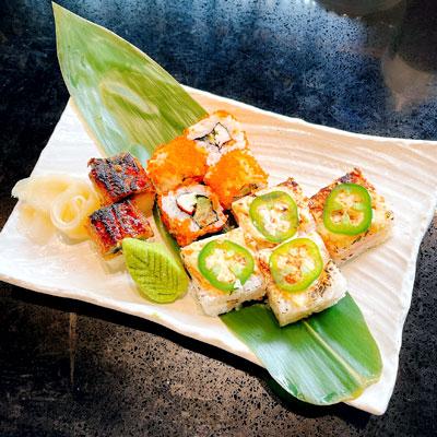Gon's Assorted Sushi(Aburi Salmon, Aburi Unagi, Calfornia Roll)