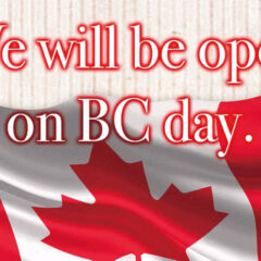 We will be open on BC day.